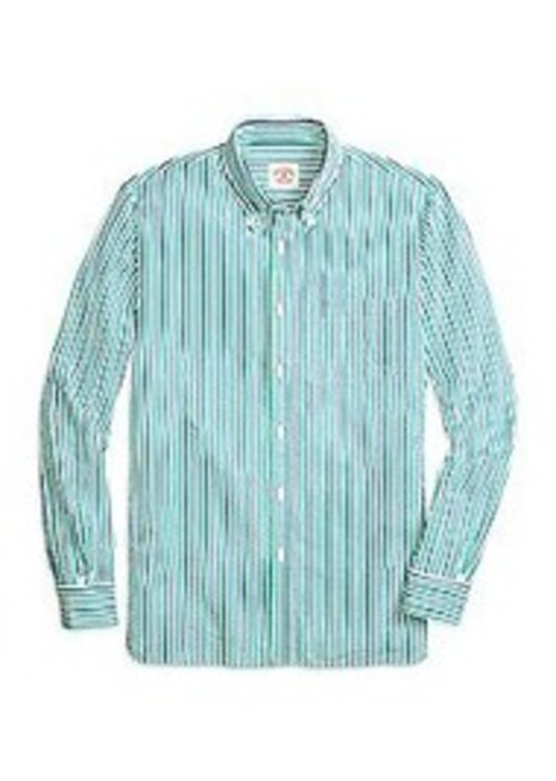 Brooks Brothers Seersucker Double Stripe Sport Shirt