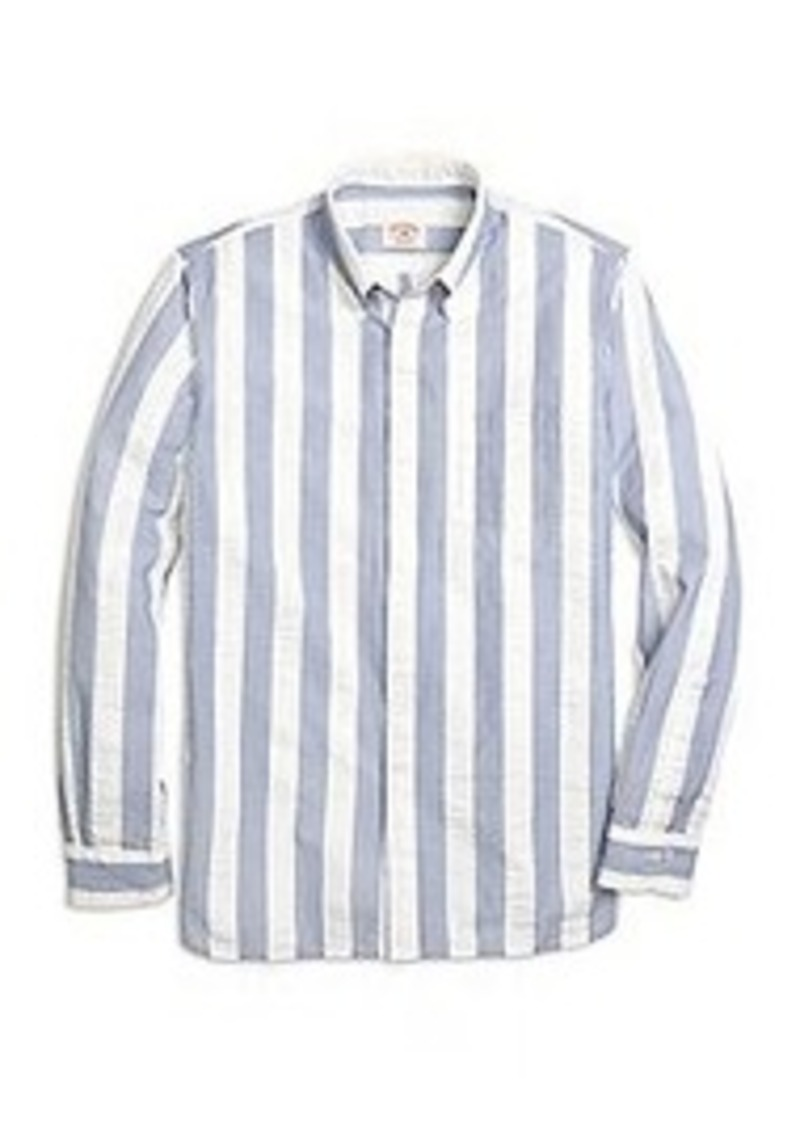 Brooks Brothers Seersucker Wide Stripe Sport Shirt