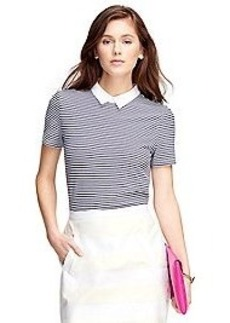 Short-Sleeve Stripe Polo Shirt