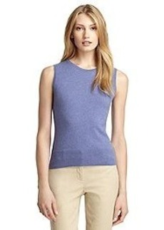Sleeveless Cashmere Shell