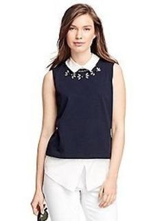 Sleeveless Cotton Shirt