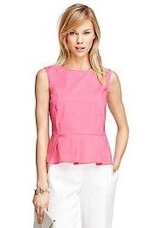 Sleeveless Peplum Shirt