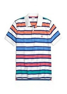 Slim Fit Large Framed Stripe Polo Shirt
