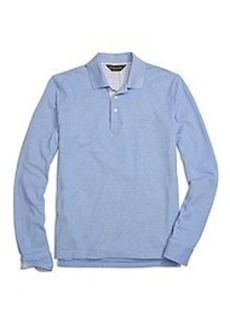 Slim Fit Long-Sleeve Oxford Collar Polo Shirt