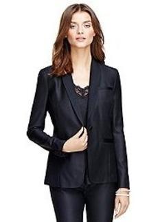 Stellita Fit Saxxon® Wool Tuxedo Jacket