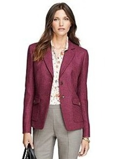 Stellita Fit Two-Button Wool Herringbone Jacket