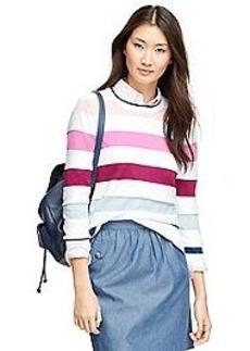 Supima® Cotton Multistripe Crewneck Sweater