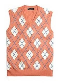 Supima® Cotton Textured Argyle Vest