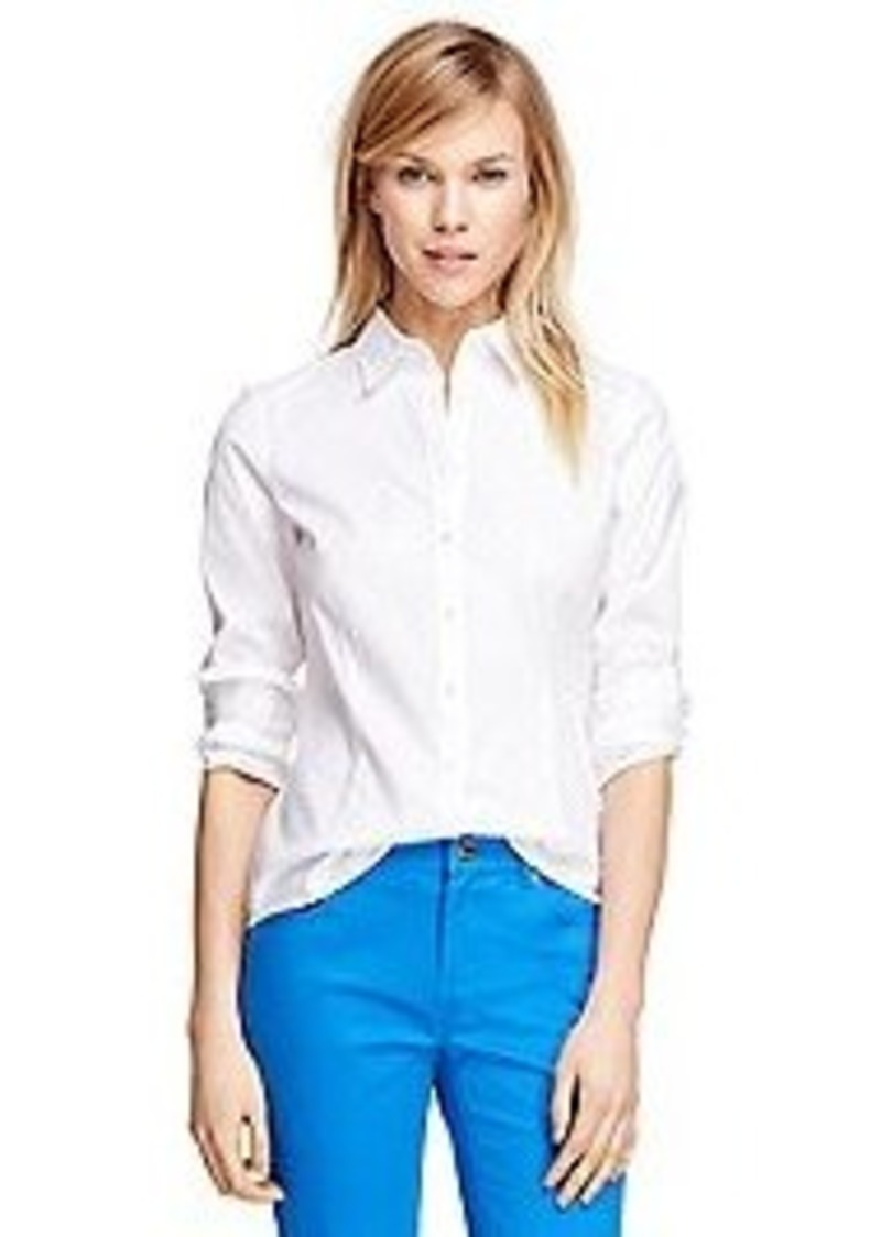 Brooks brothers tailored fit cotton dress shirt dress for Tailoring a dress shirt