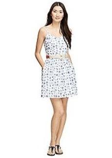 Textured Cotton Printed Dress