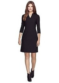 Three-Quarter Sleeve Knit Dress