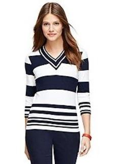 Three-Quarter Sleeve V-Neck Sweater