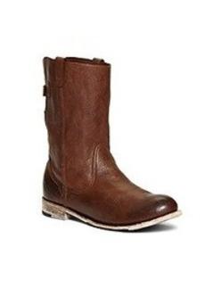 Vintage Shoe Company Short Leather Buckle Boots