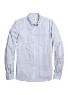 Wide Frame Stripe Sport Shirt