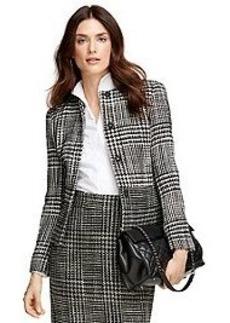 Wool Blend Boucle Jacket