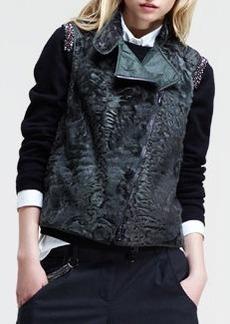 Brunello Cucinelli Asymmetric-Zip Fur Vest