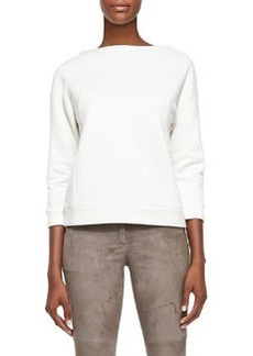 Brunello Cucinelli Bracelet-Sleeve Knit Sweatshirt
