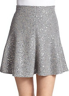 Brunello Cucinelli Cashmere & Silk Paillette Skirt