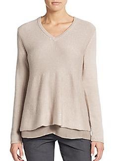 Brunello Cucinelli Cashmere & Silk Sequined Sweater