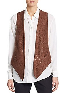 Brunello Cucinelli Cashmere & Silk Sequined Vest