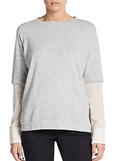 Brunello Cucinelli Cashmere Rib-Knit Boxy Sweater