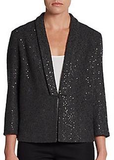 Brunello Cucinelli Cashmere/Silk Paillette Knit Jacket