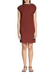 Brunello Cucinelli Cotton Poplin Twisted Dress