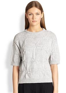 Brunello Cucinelli Crinkle-Knit Cashmere Pullover