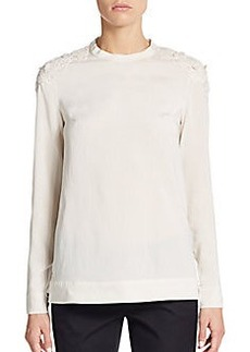 Brunello Cucinelli Crochet-Overlay Top