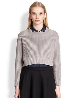 Brunello Cucinelli Cropped Cashmere & Silk Sequin Sweater