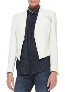 Brunello Cucinelli Cropped Crepe Tuxedo Jacket