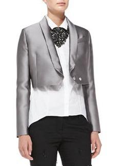 Brunello Cucinelli Cropped Duchess Satin Jacket