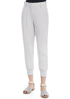 Brunello Cucinelli Cropped Pants W/ Tux Stripes
