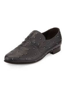 Brunello Cucinelli Diamond Dust Studded Ostrich Slip-On