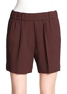 Brunello Cucinelli Elastic-Waist Wool Shorts