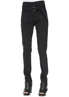 Brunello Cucinelli High-Waist D-Ring Slim Pants