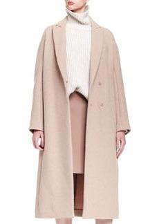 Brunello Cucinelli Long Cashmere Dropped-Shoulder Coat