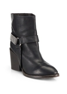 Brunello Cucinelli Monili Leather Beaded Harness Ankle Boots