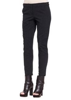 Brunello Cucinelli Paneled Pinstripe Wool Pants