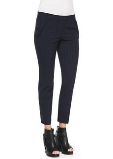 Brunello Cucinelli Pinstripe Fold-Pocket Pants