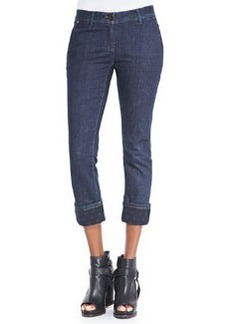 Brunello Cucinelli Polka Dot-Cuff Ankle Jeans