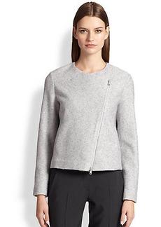 Brunello Cucinelli Sequined Cashmere & Silk Moto Jacket