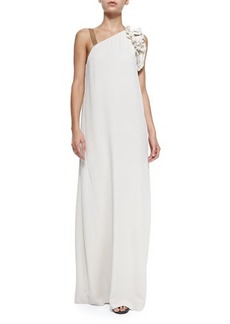 Brunello Cucinelli Shift Gown with One Monili Strap  Shift Gown with One Monili Strap