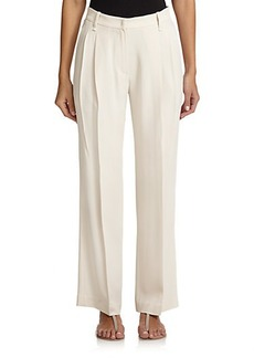 Brunello Cucinelli Silk Crepe Wide-Leg Trousers