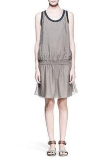 Brunello Cucinelli Sleeveless Drop-Waist Dress