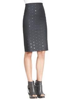 Brunello Cucinelli Spaced Paillette Pencil Skirt