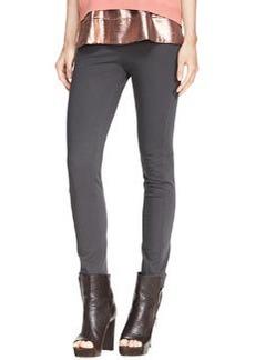 Brunello Cucinelli Stretch Cotton Side-Zip Jodhpur Leggings