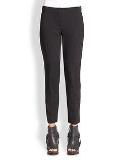 Brunello Cucinelli Stripe Chevron-Detail Pants