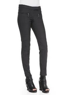 Brunello Cucinelli Tech Fleece Zip-Pocket Biker Pants