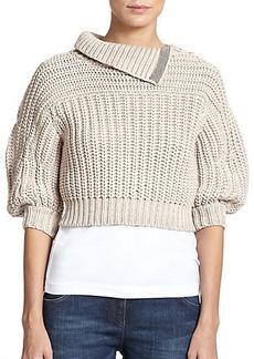 Brunello Cucinelli Tubular Cropped Sweater